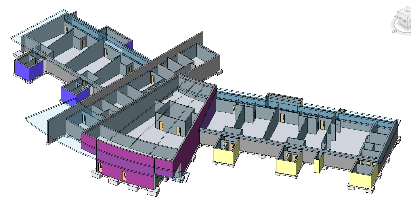 BIM Consulting on Tomas School 3D architectual model