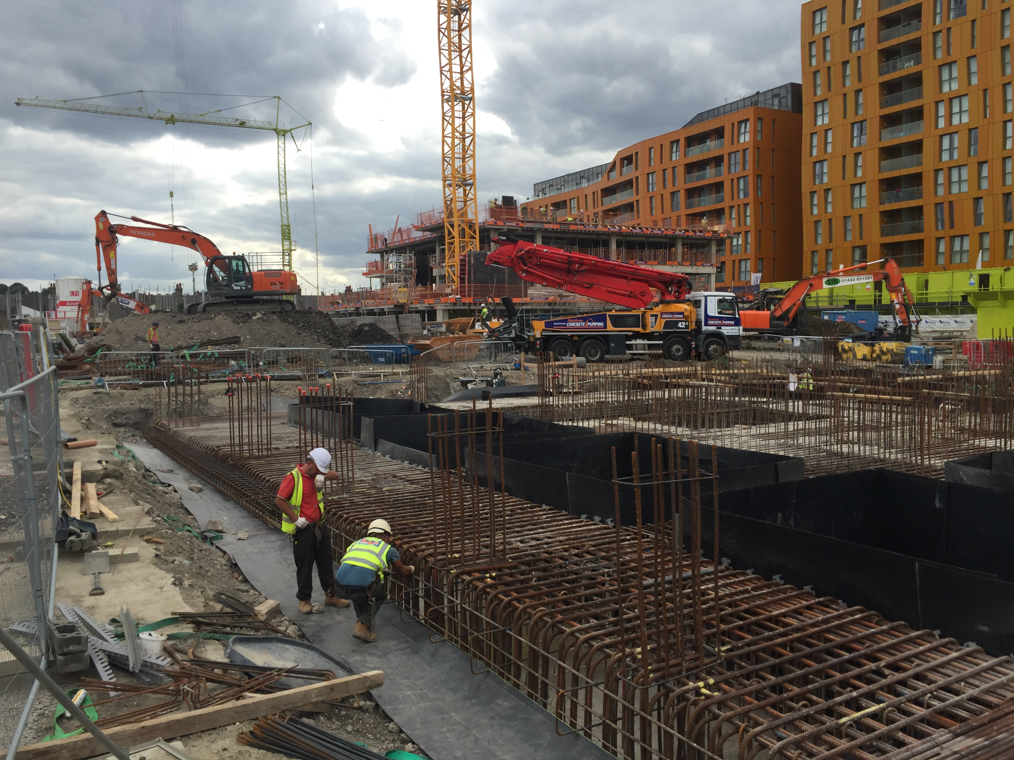 Structural Engineering Concrete Columns on a raft Foundation